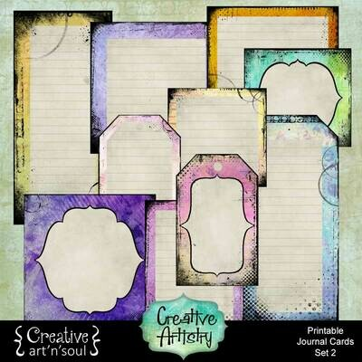Creative Artistry Printable Journal Cards Set 2
