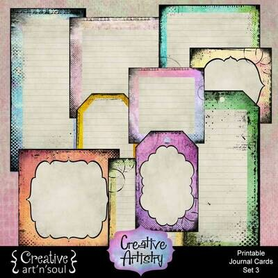 Creative Artistry Printable Journal Cards Set 3