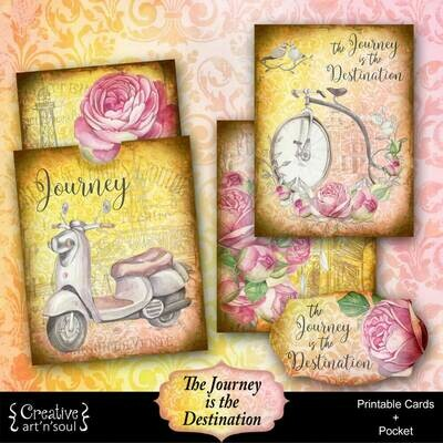 The Journey Is The Destination Printable Journal Cards and Pocket
