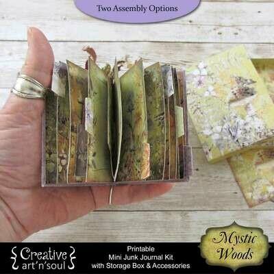 Mystic Woods Printable Mini Junk Journal