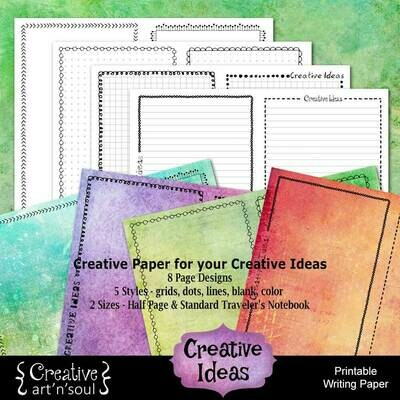 Creative Ideas Printable Writing Paper