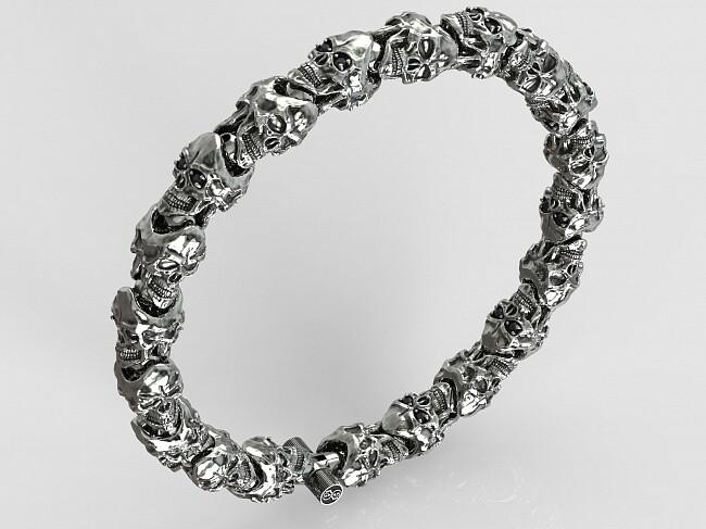 Skulls Roundelay Luxe Bracelet