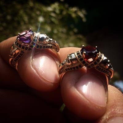Skulls Queen Ring