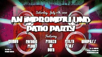 DNB Patio Party  5 DJ's