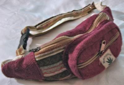 Fanny Packs with Adjustable Strap, Himalayan Hemp