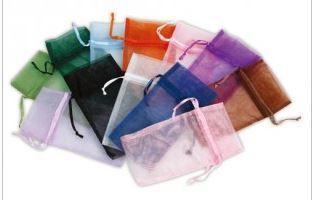 """5""""x8"""" Organza Bags, Asst Colors, 12 Pk"""