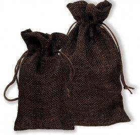 "3""x 4"" Burlap Bags, Brown Color, 12 Pack"