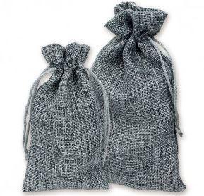 """4""""x 6"""" Burlap Bags, Grey Color, 12 Pack"""
