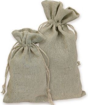 "3""x 4"" Linen Bags, Natural Color, 12 Pack"
