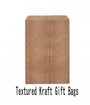"Paper Kraft Gift Bags, 6""x9"", Textured Design, Priced pr 100 Pk"