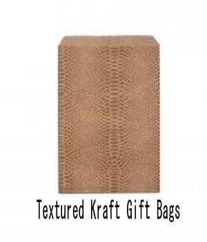 "Paper Kraft Gift Bags, 8 1/2""x11"", Textured Design"