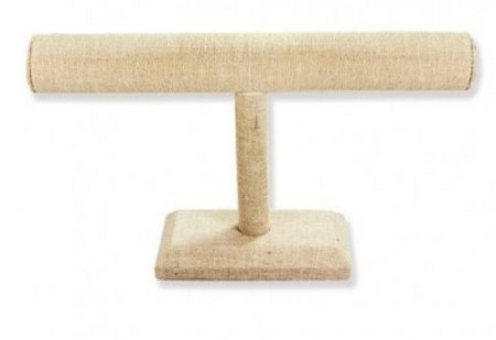 "Linen T-Bar Bracelet Display, 7 1/2""L x 4 7/8""H, Priced Each"