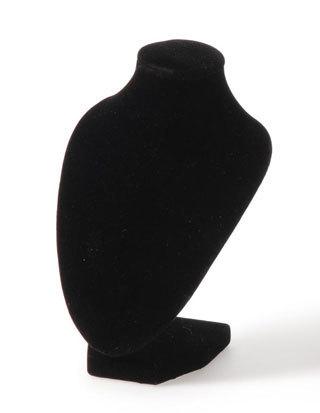 "Necklace Display, 4""W x 3 1/4""D x 6 1/4""H, Black Velvet, Priced Each"