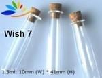 Wish Bottle, #7 Tube, Glass with Cork, 24 Pk
