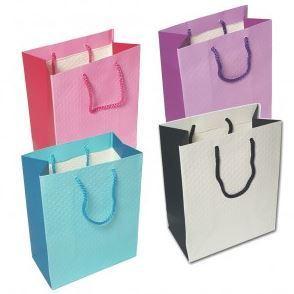 """Merchandise Bags, Sold Color Totes, 7""""Wx 9""""L x 4""""D, 6 Pk"""