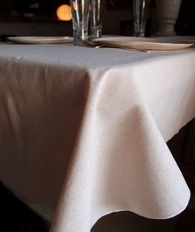 """Linen Table Cover with Selvage Edge, 54""""x 54"""", Priced Each"""