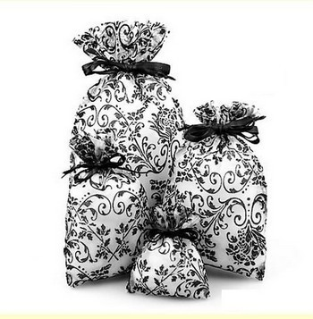 "5""x 7"" Sheer Novelty Bags with Damask Design, 6 Pk"