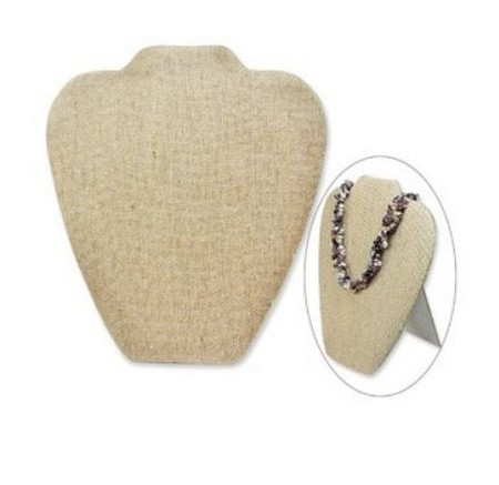 """Necklace Display with Easel,  7 5/8""""W x  8  3/4""""H, Linen Covered, Priced Each"""
