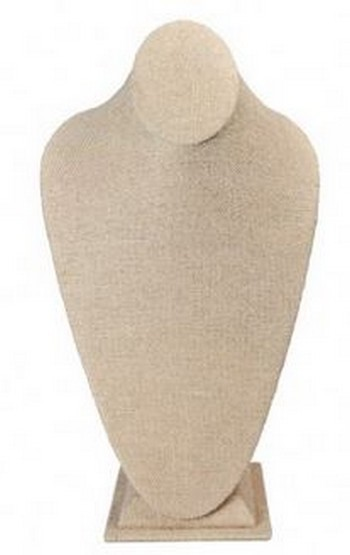 """Jewelry Bust Display,  8""""x 5 1/8""""x  15 1/4""""H, Linen Covered, Priced Each"""