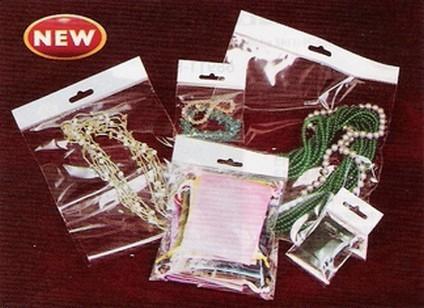 "8""x 10"" OPP Bags with Self-Adhesive Seal and Hang Header, 500 Pk"
