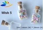 Wish Bottle, #5 Square, Glass with Cork, 24 Pk
