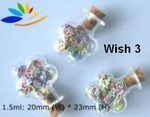 Wish Bottle, #3 Flower, Glass with Cork, 24 Pack