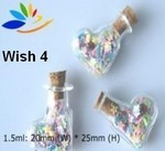 Wish Bottles, #4 Boot, Glass with Cork, 24 Pack