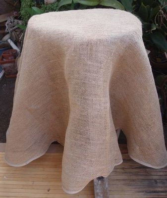 Burlap Table Cover, 60