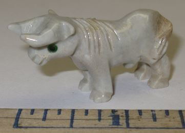 "Miniature Soapstone Carving, Bull, 1 1/2"" Tall, Price Ea"