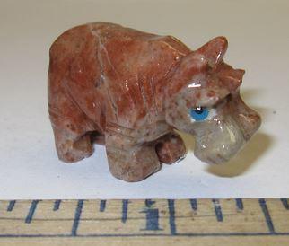 "Miniature Soapstone Carving,  Hippo, 1 1/2"" Tall, Priced Ea"