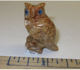 "Miniature Soapstone Carving,  Owl, 1 1/2"" Tall, Priced Ea"