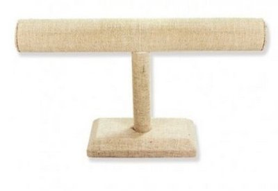 Linen T-Bar Bracelet Display, 7 1/2