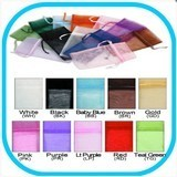 Organza Drawstring Pouches, 4''W x 5''H, 10 Colors to Choose from, 12 Pk