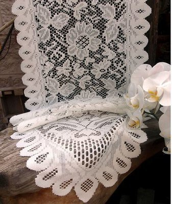 Ivory Floral Lace Table Runner, 13