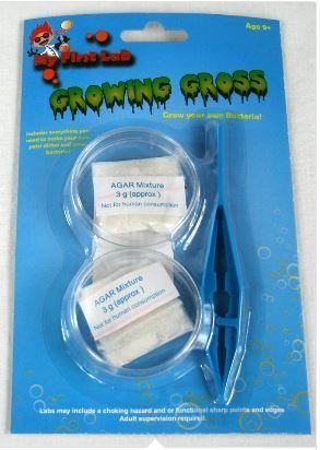 Grow Your Own Bacteria - Plastic Petri Dishes & Agar Kit, Priced Each