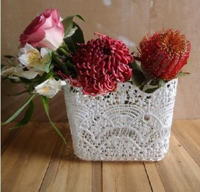 """Lace Baskets, 5""""x 5""""x 5 1/2""""H, Priced Each"""