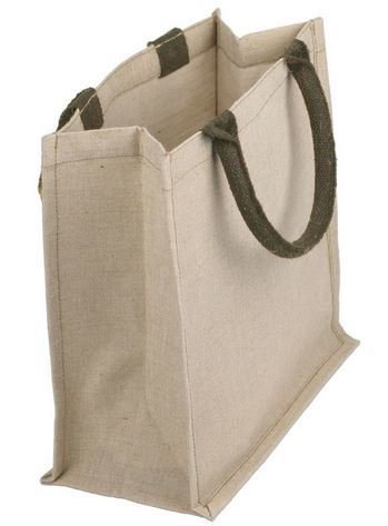 """Jute and Cotton Blend Tote Bags, 12""""x 7 3/4""""x 12""""H, Priced Each"""