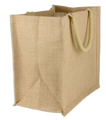 "Jute Shopping Totes, Natural Color, 15 1/2""x 6""x 13 3/4""H, Priced Each"