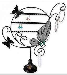 Metal Wire Earring Display 14 1/2'' x 3 1/2''D x 17''H, Black, Priced Each