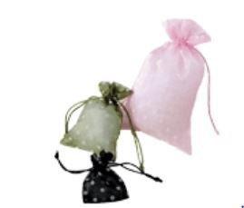 Organza Bags with Polka Dot Print, 4