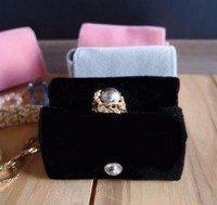 "Medium Velvet Jewelry Holder, Black, 2 5/8""W x 1 5/8""H x 1 1/4""D, Priced Each"