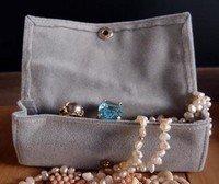 Large Velvet Jewelry Holder, Grey, 4 3/4