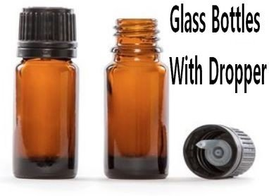 10ml Amber Glass Bottles with Dropper, Price Per 8 Pack