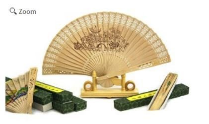 """Decor Fans, Cork with Assorted Designs, 12"""" Open, Price Per 12 Pk Assorted"""