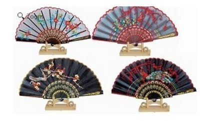 Decor Fans, Embroidered Designs, 15