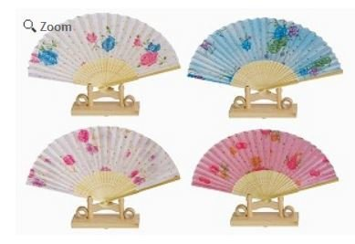 """Decor Fans, Bright Colorful, 15"""" Opened, Priced Per 12 pk Assorted"""
