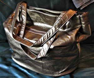 Ladies Faux Leather Purse, Multi Colored Brown, Priced Each