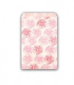 """Gift Bags with Pink Floral Design, 5""""x 7"""", Priced per 100 pk"""