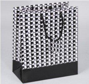 "Paper Gift Merchandise Bags, Houndstooth Design, 3""x 2""x 3 1/2"", 20 Pk"