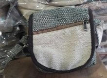 """Passport Bag, 7""""x 8"""",  with Shoulder Strap and Flap and Front Zipper Pocket, Priced Each"""